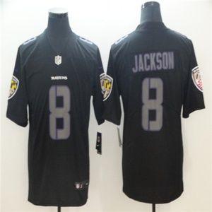 Baltimore Ravens 8 Lamar Jackson Jersey black